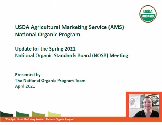 NOP Overview - NOSB Spring 2021 Meeting