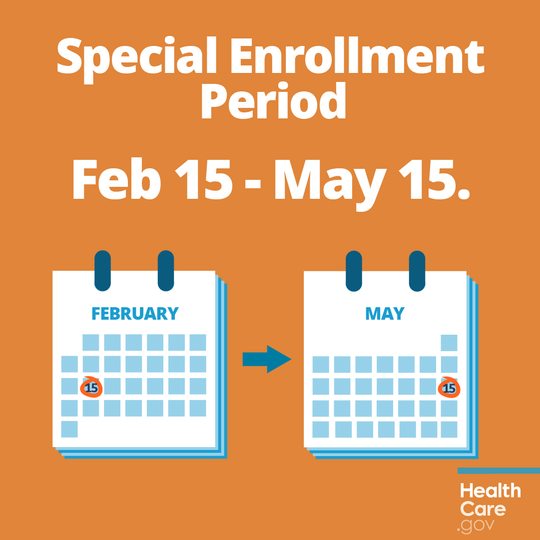 Affordable Care Act Special Enrollment Period Graphic