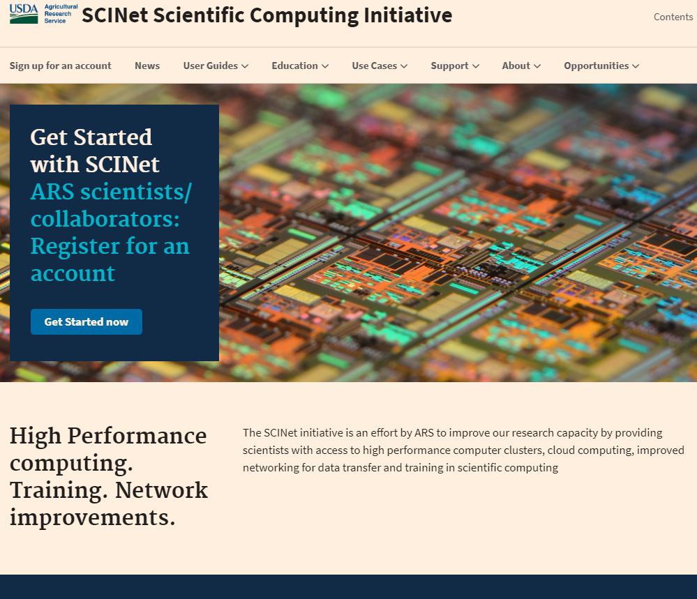 SCINet website screenshot