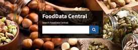 Homepage of FoodData Central Website