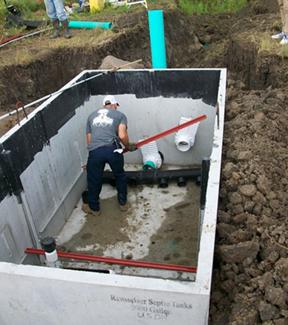 Scientist building a phosphorus trap