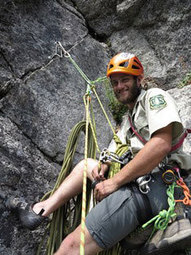 Rock Climber, Photo provided by Okanogan-Wenatchee National Forest.