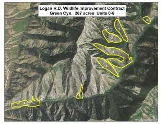 Mule Deer Winter Habitat Project Logan Ranger District