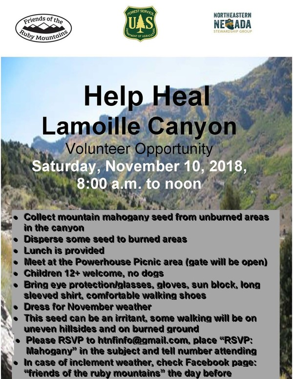volunteer opportunity at Lamoille Canyon