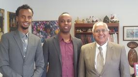 Mohamed Farah, Abdimalik Mohamed and Dr. Muqurab Qureshi during a recent visit to NIFA.
