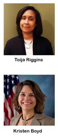 Toija Riggins and Kristen Boyd