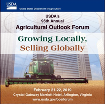 USDA Ag Outlook Forum 2019 graphic
