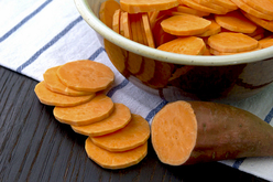 Sliced sweet potatoes. Photo credit: Getty Images