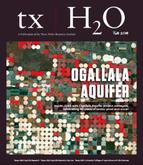 Cover image of the fall 2018 txH2O Magazine