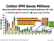 Cotton IPM Saves Millions. Ellsworth Researcher. NIFA Impacts.