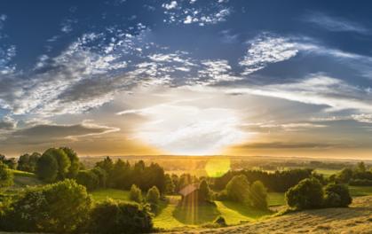 Rural landscape panoramic, image courtesy of Pixabay.