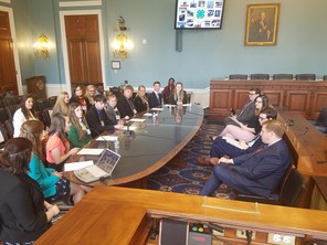4-H youth leaders visit the House Agriculture Subcommittee.