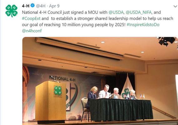 4-H USDA NIFA MOU. USDA NIFA Impacts.