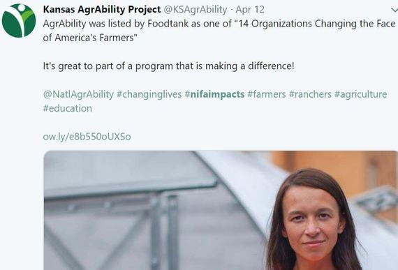 Kansas Agrability. USDA Fresh From the Field. NIFA Impacts
