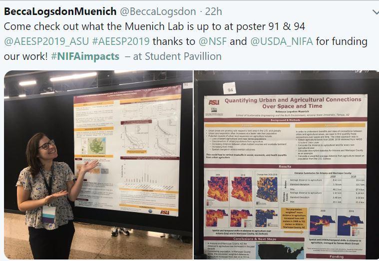 USDA NIFA Impacts May 17 2019. ASU student.