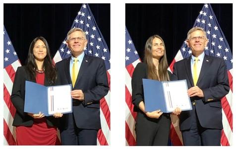 PECASE awardees Megan O'Rourke, Virginia Tech University and Jennifer Kao-Kniffin, Cornell University