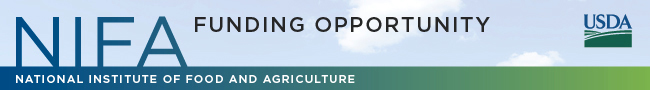 NIFA's Funding Opportunity banner graphic