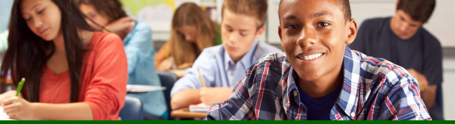 Funding Opportunity NIFA's SPECA program. Image of secondary school children in classroom; courtesy of Getty Images.