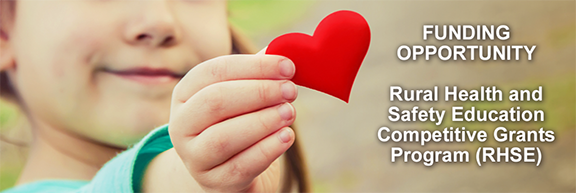 Funding Opportunity for the RHSE program. Image of child holding heart, courtesy of Getty Images.