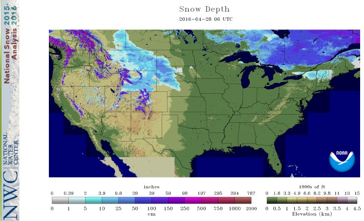 New snow across northern Great Plains and Rockies this week