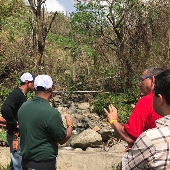 emergency watershed program team assesses storm damage in Puerto Rico, post Maria.