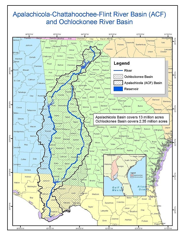 Figure 1: Map of the multi-state project's river basins.