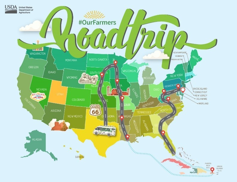 Summer Roadtrip TX Map