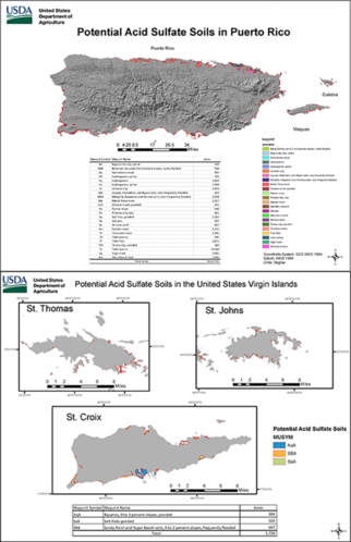 Potential Acid Sulfate Soils Maps for Puerto Rico and the USVI_June2019