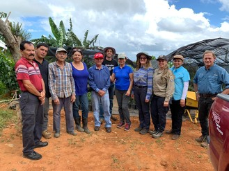 Utuado farmers and partners during June 13 2019 shade tree distribution.