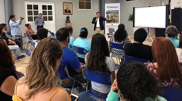 RD Executive Director Josue Rivera delivers presentation during OneUSDA outreach event in Las Piedras.