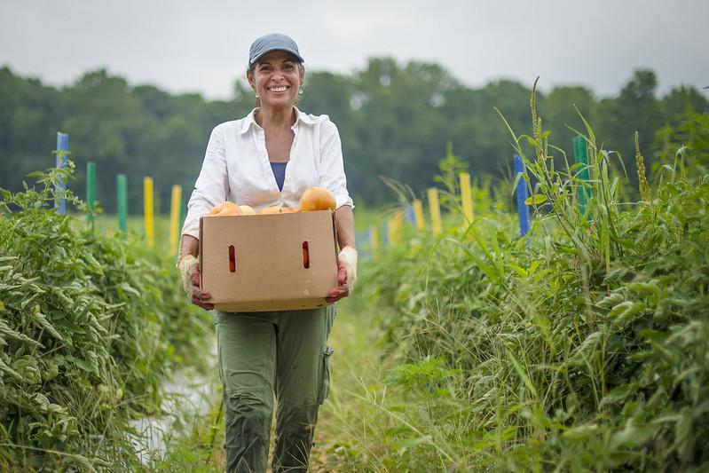 image of lady on farm