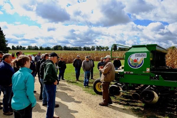 photo of producer providing a farm tour