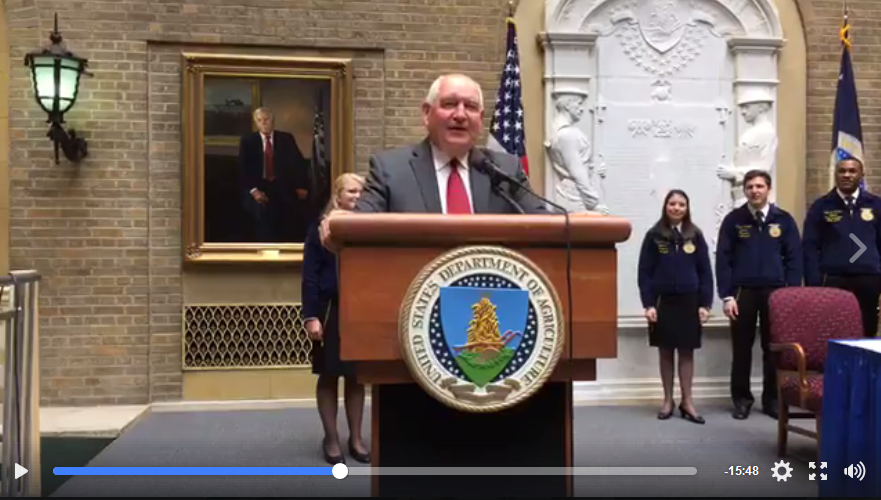 Secretary Perdue Partners with FFA to Support Next Generation of Leaders in Agriculture