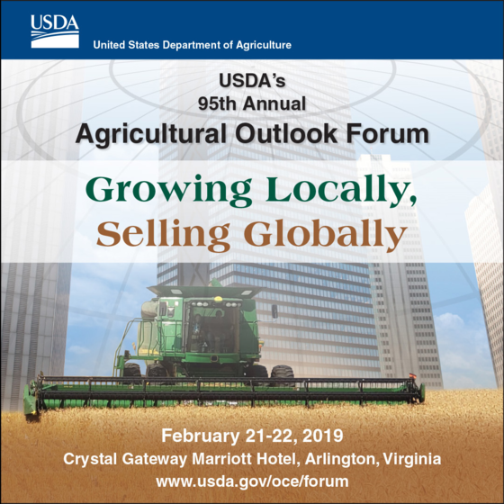 USDA 95th Annual Agricultural Outlook Forum graphic