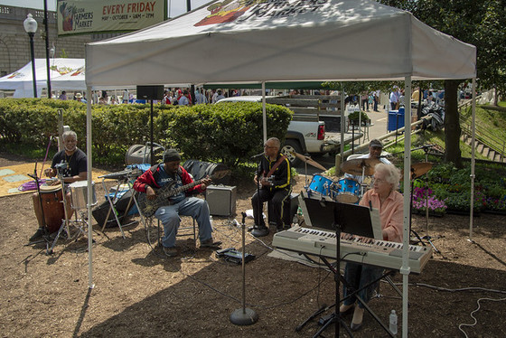 Granny and the Boys at the 2018 United States Department of Agriculture's Farmers Market on May 4, 2018