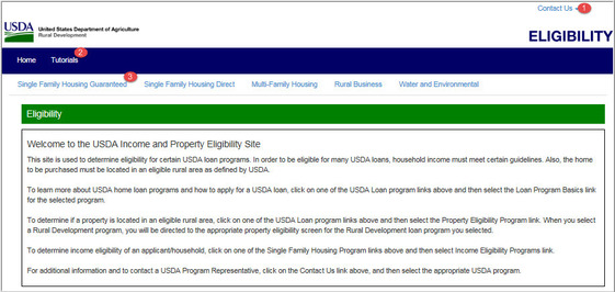 USDA Property and Income Eligibility Site
