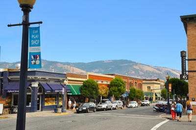 Photo: Downtown Hood River, Oregon