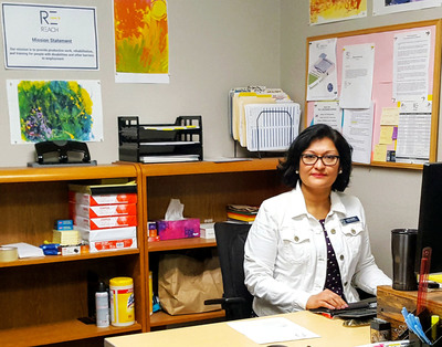 Photo: Rosa Cortes found employment at the nonprofit REACH, where her disabilities are accommodated