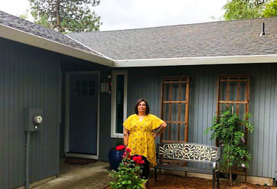 Photo: After growing up in foster care and homeless, Mendiola was finally able to purchase her first home with assistance from Rural Development.