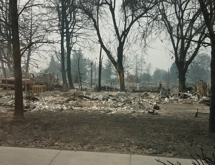 Rose Court Apartments was destroyed in the 2020 Oregon wildfires