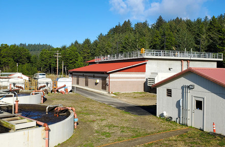 The renovated Pacific City Joint Water-Sanitary Authority wastewater treatment plant