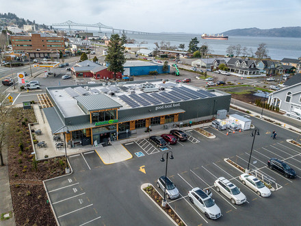 The Astoria Co-op installed solar panels on its roof with the help of a USDA grant
