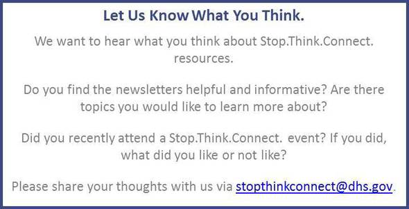 Stop.Think.Connect. feedback information