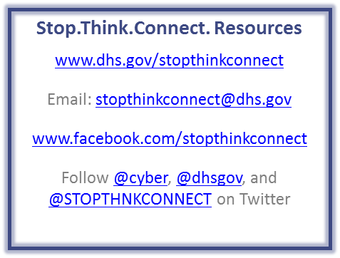 Stop.Think.Connect. resources