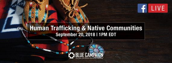Human Trafficking & Native American communities Facebook Live promotion photo
