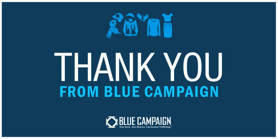 thank you from blue campaign.