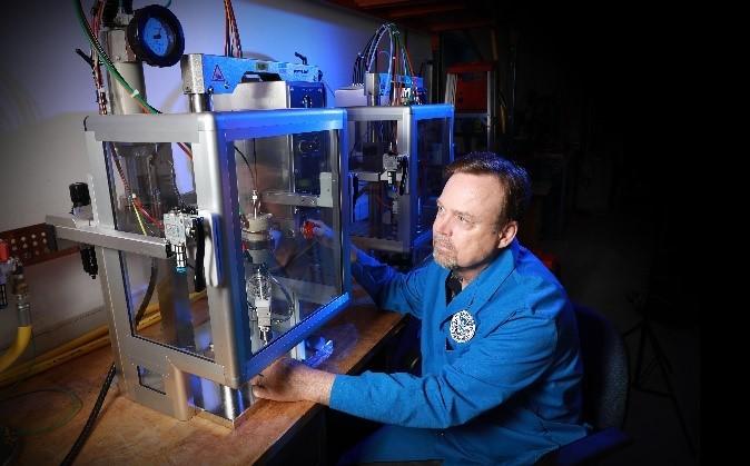 TSL Chemist Dr. Jim Deline developed a novel method to more efficiently test equipment.