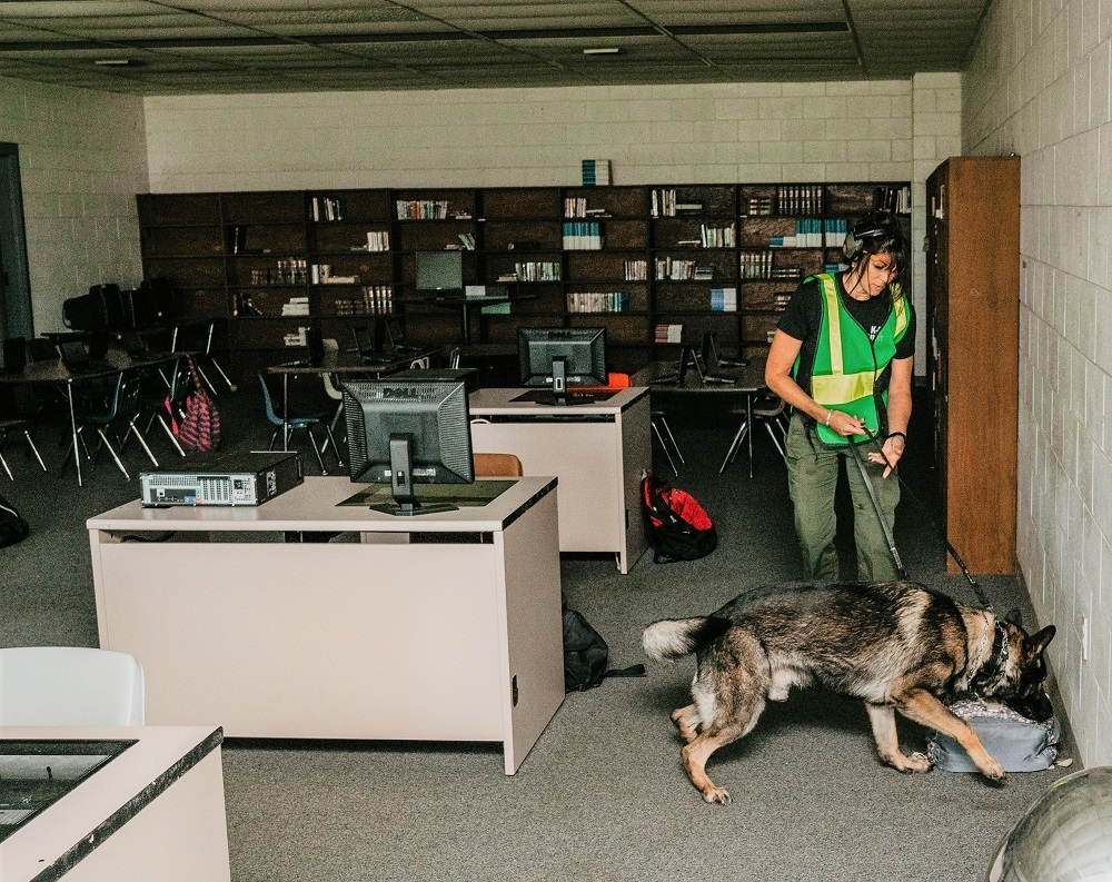 Canine teams participate in an active shooter drill at CTATC in Immokalee, Florida