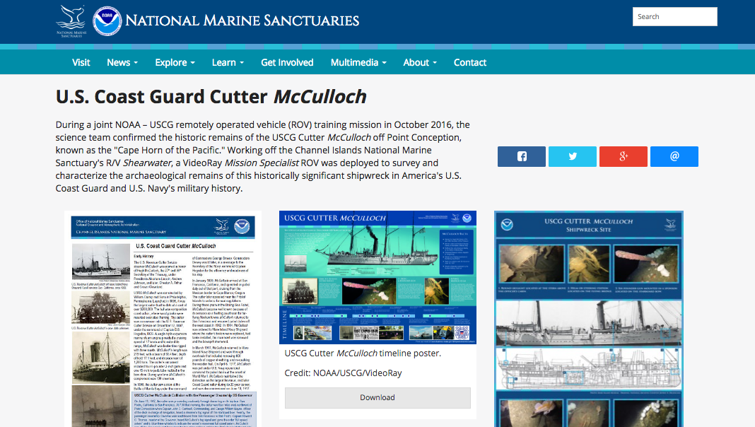 NOAA McCulloch Website