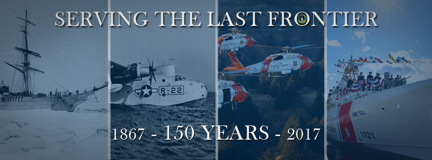 Coast Guard Alaska 150th anniversary banner